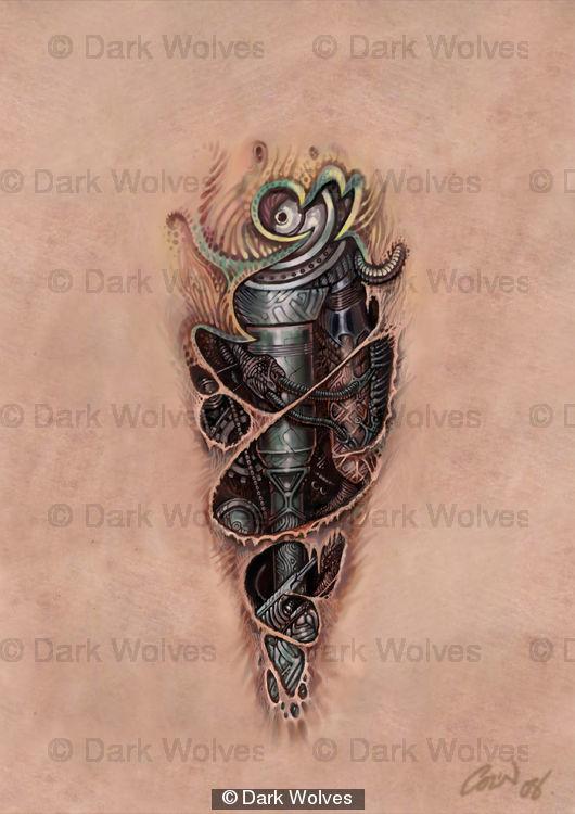 bio mech tattoo | Katy Perry Buzz