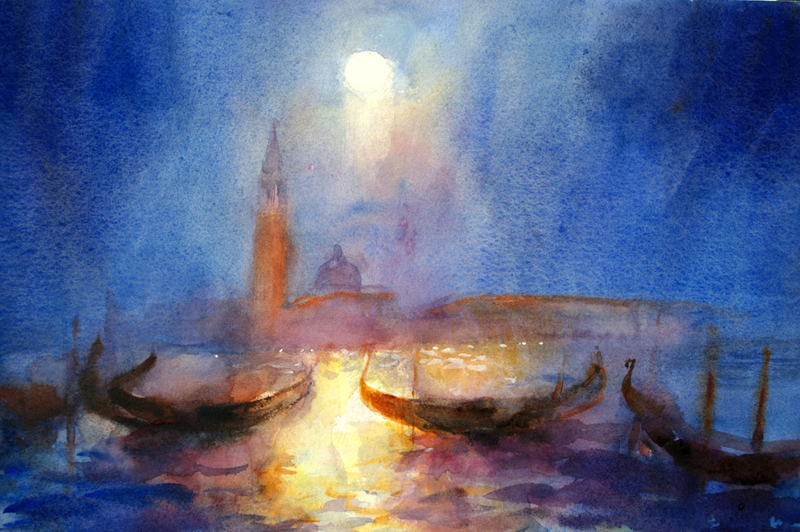 San Giorgio by moonlight
